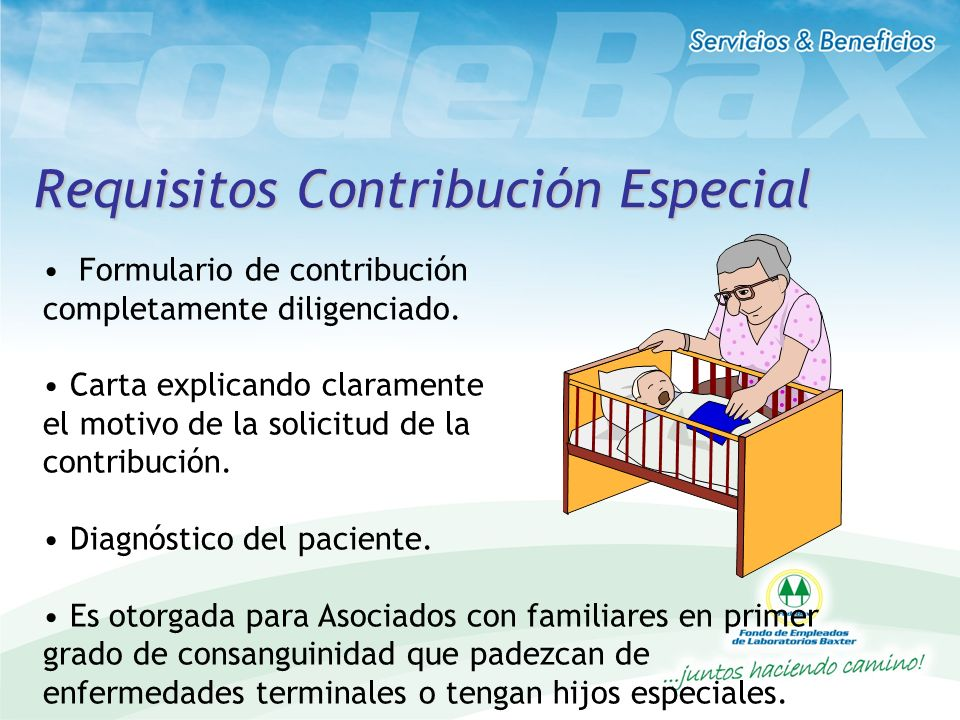 Requisitos Contribución Especial