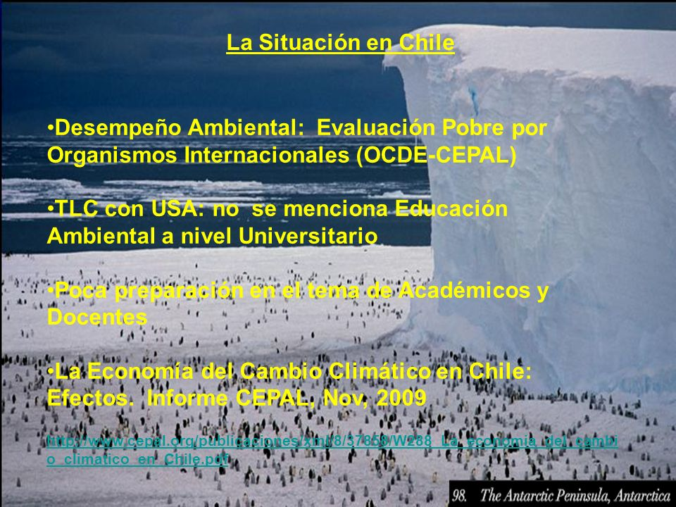 TLC con USA: no se menciona Educación Ambiental a nivel Universitario