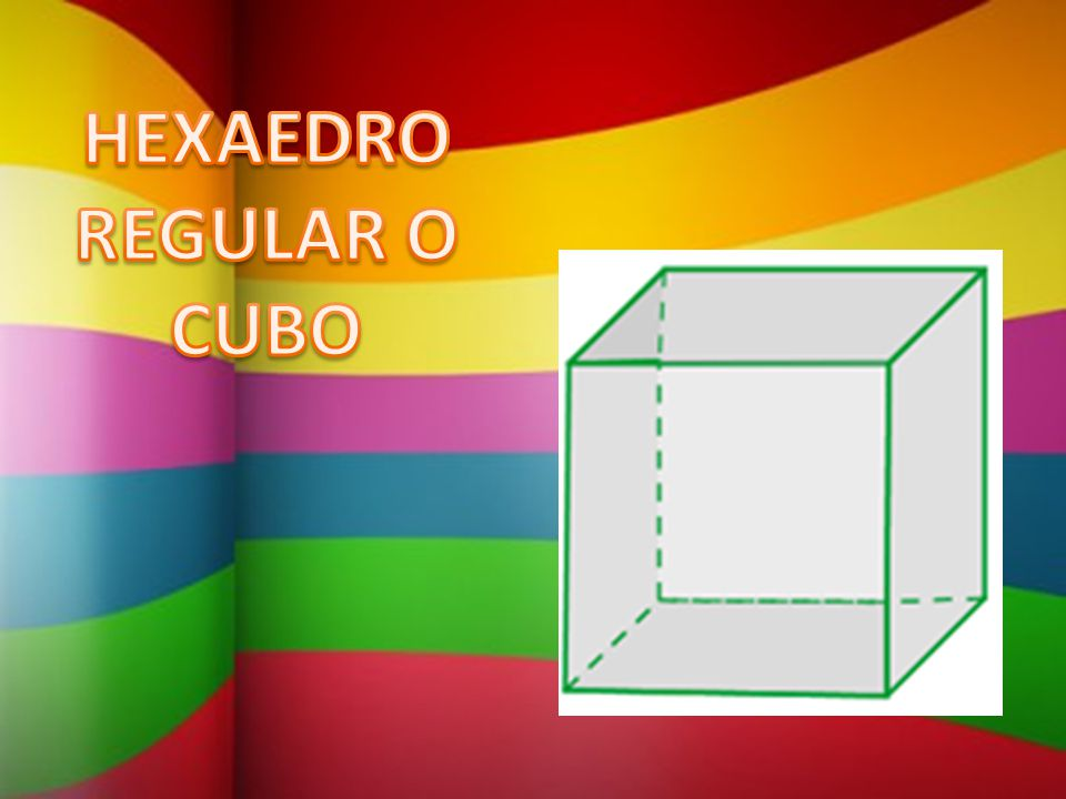 HEXAEDRO REGULAR O CUBO
