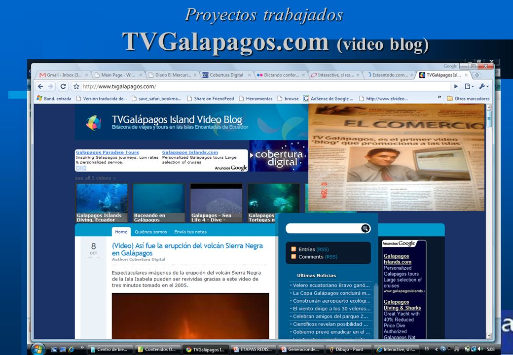 TVGalapagos.com (video blog)