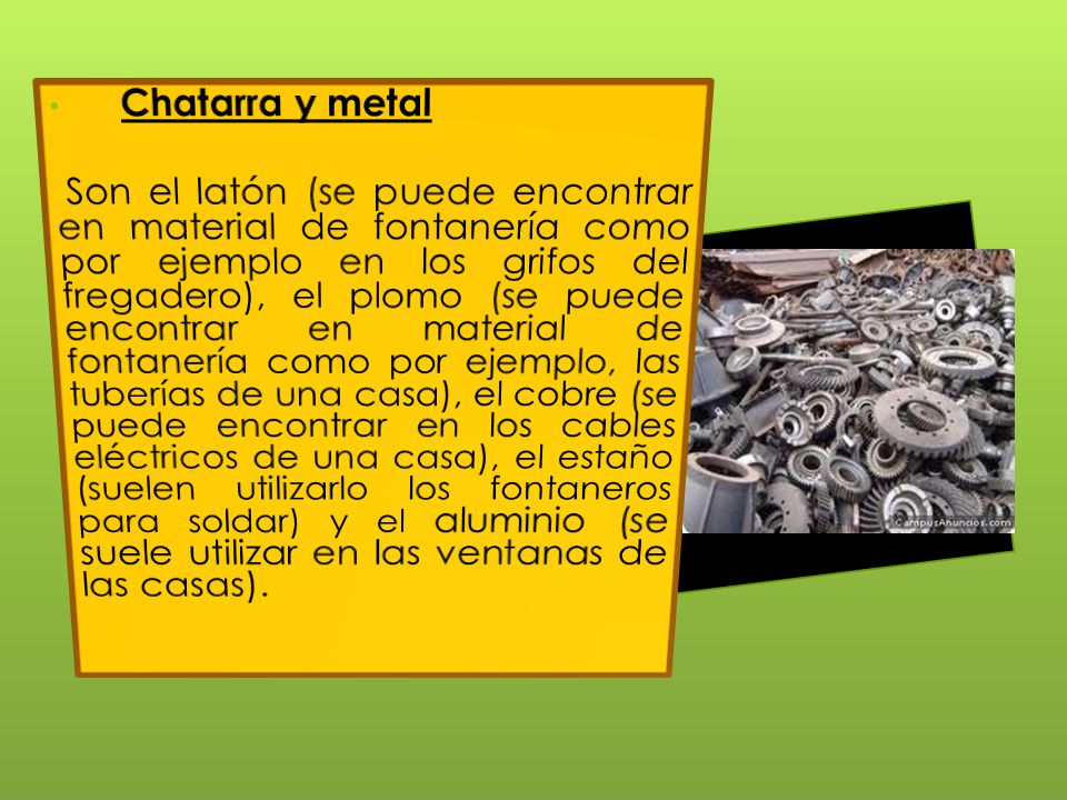 Chatarra y metal