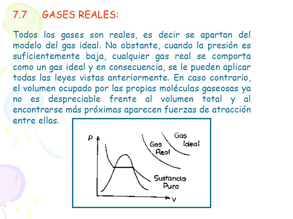 7.7 GASES REALES: