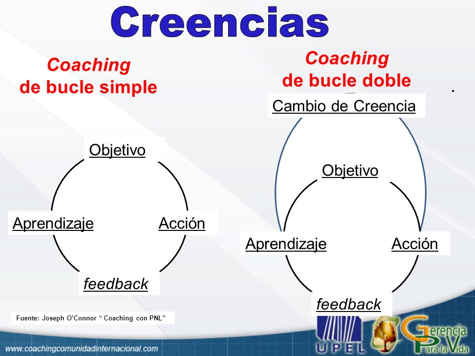 Coaching de bucle doble Coaching de bucle simple