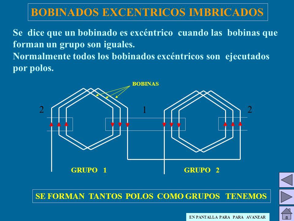 BOBINADOS EXCENTRICOS IMBRICADOS