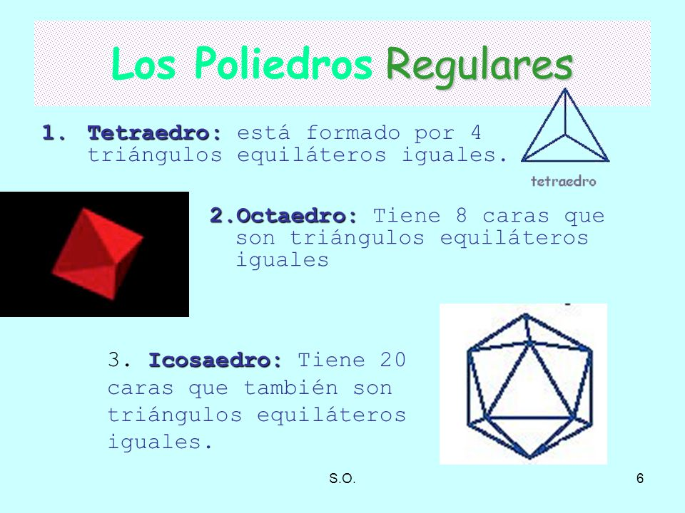 Los Poliedros Regulares