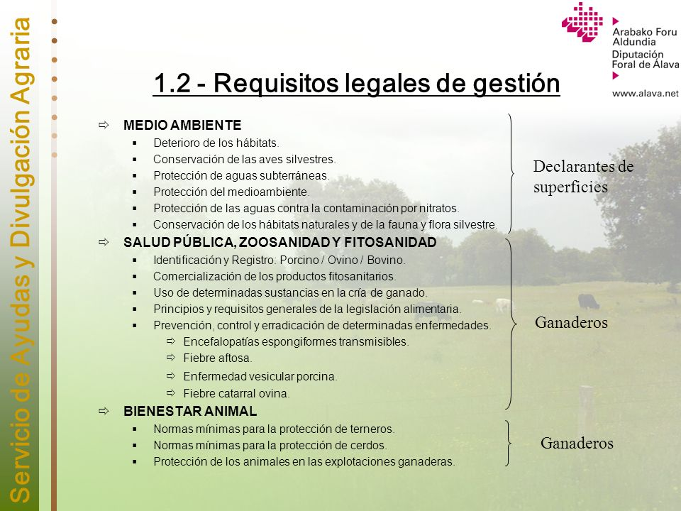 1.2 - Requisitos legales de gestión