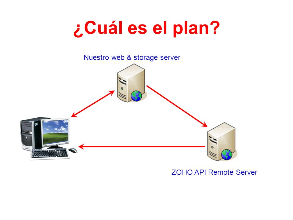 ¿Cuál es el plan Nuestro web & storage server ZOHO API Remote Server