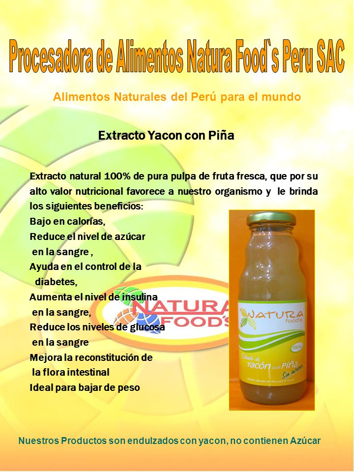 Extracto Yacon con Piña