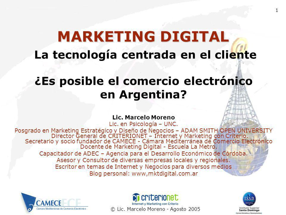 MARKETING DIGITAL La tecnología centrada en el cliente