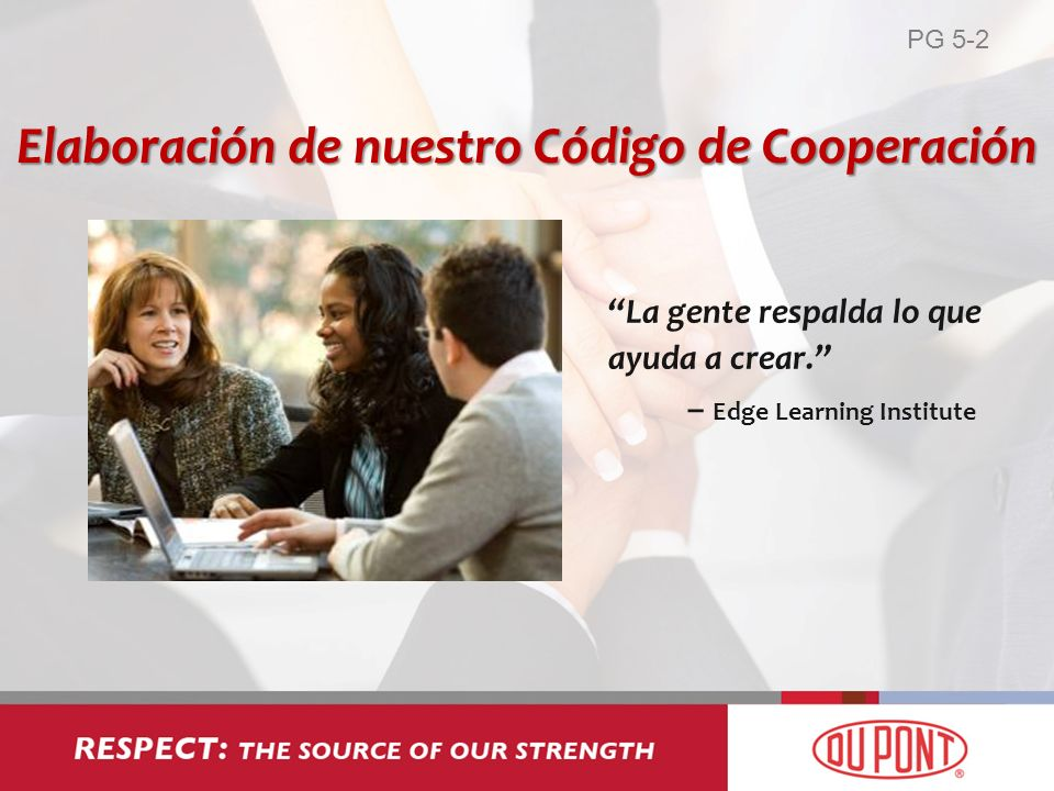 La gente respalda lo que ayuda a crear. – Edge Learning Institute