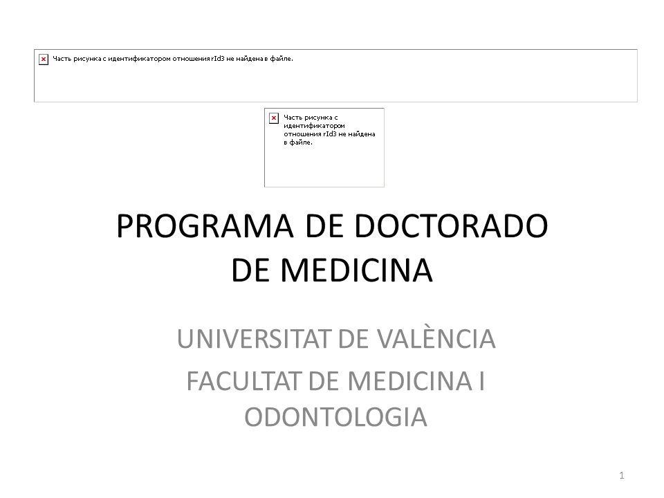 PROGRAMA DE DOCTORADO DE MEDICINA - ppt descargar
