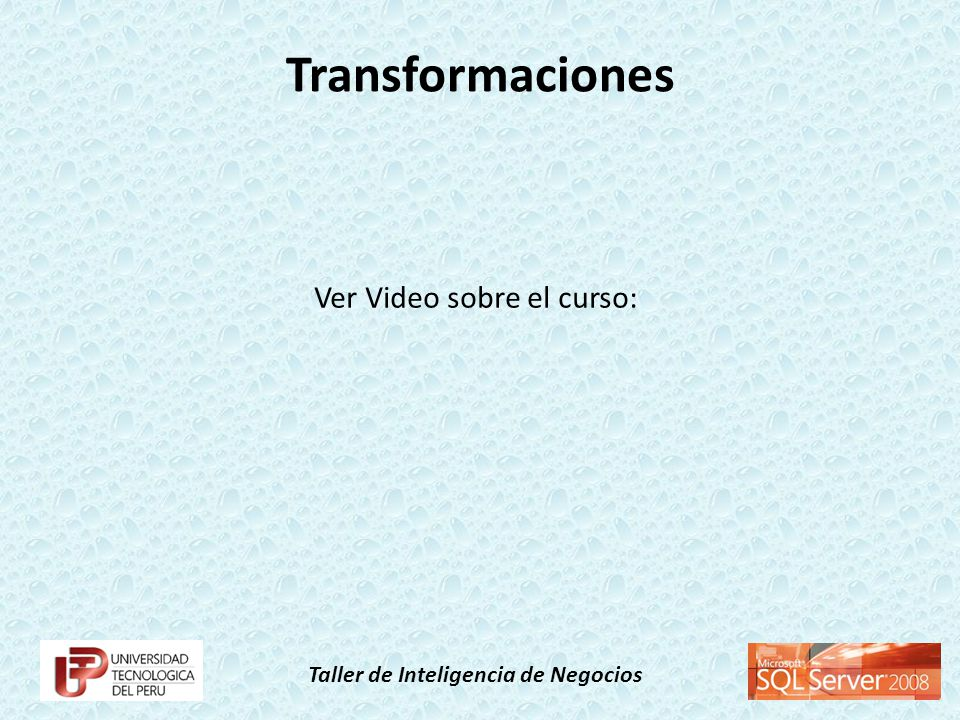 Ver Video sobre el curso: