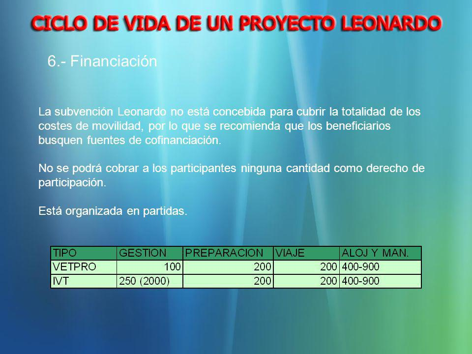 6.- Financiación