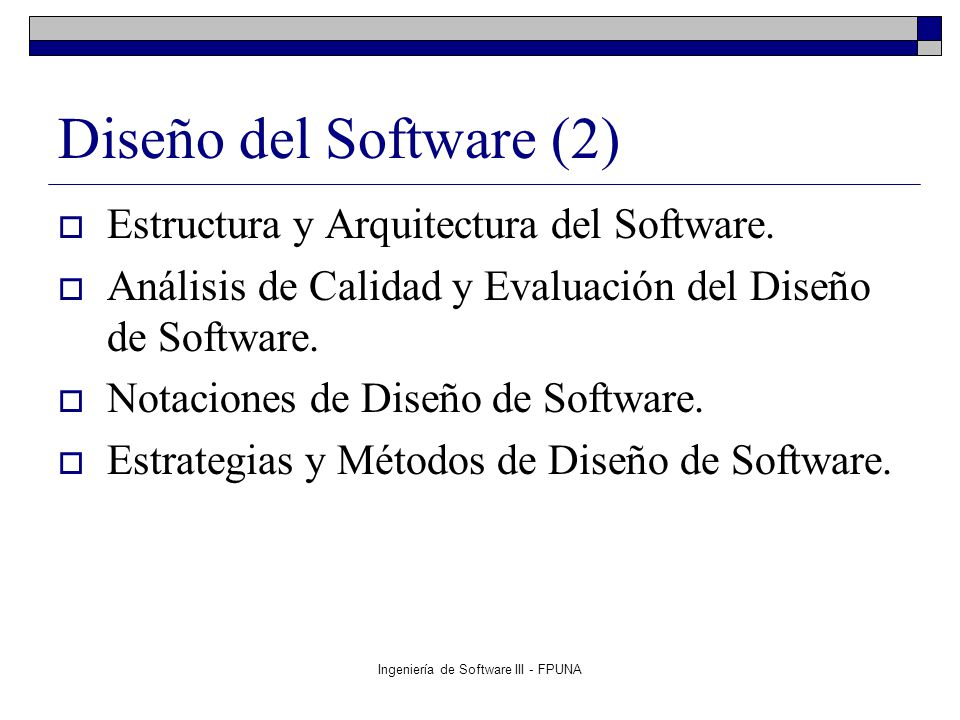 Ingeniería de Software III - FPUNA