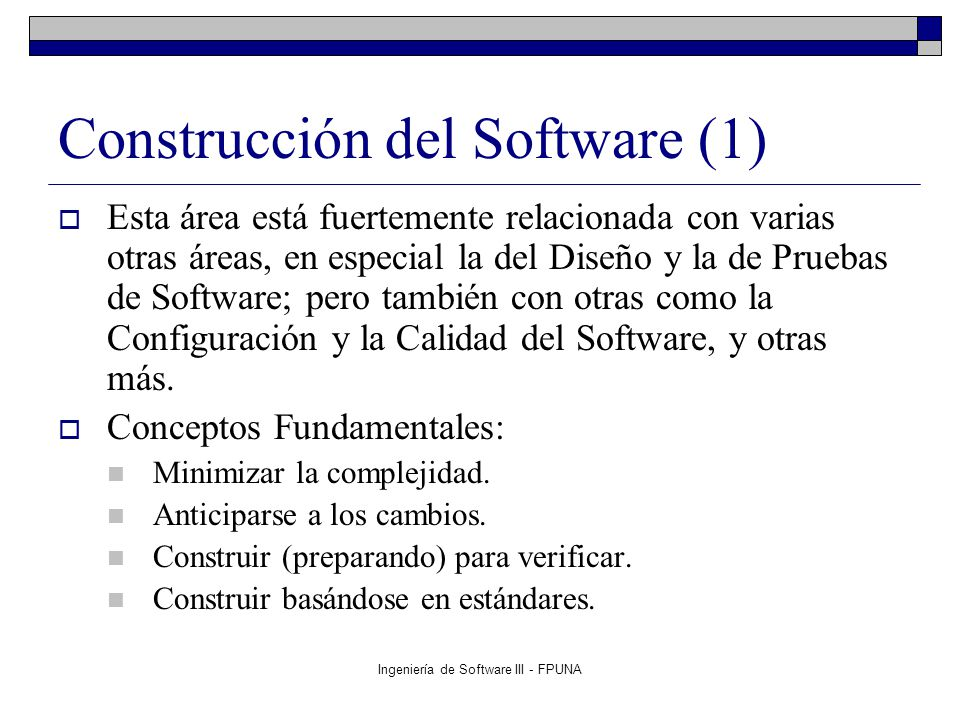 Construcción del Software (1)