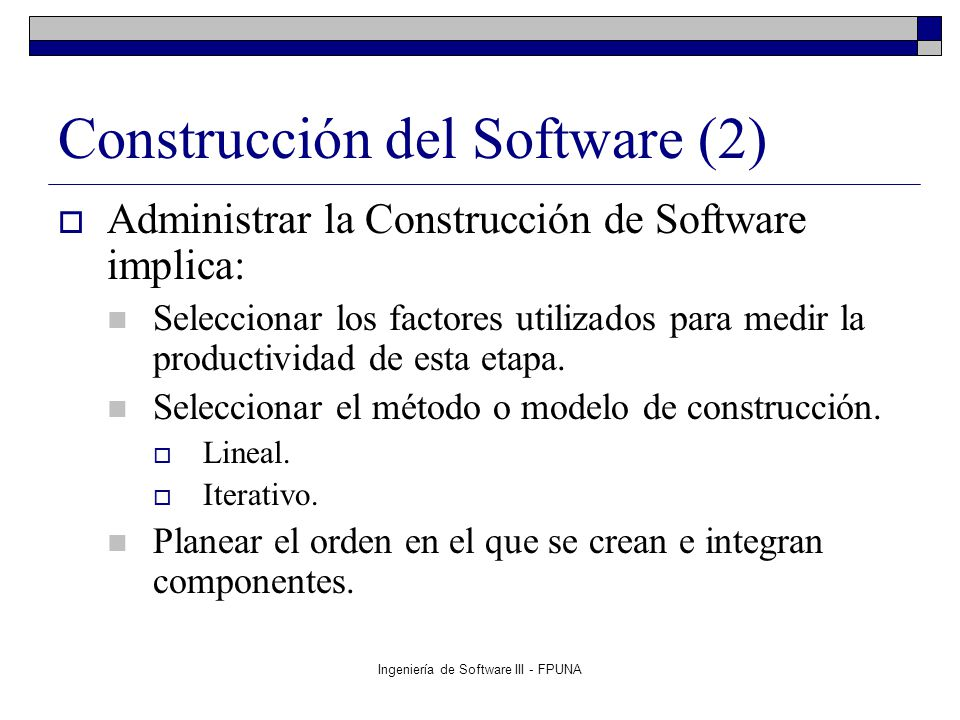 Construcción del Software (2)