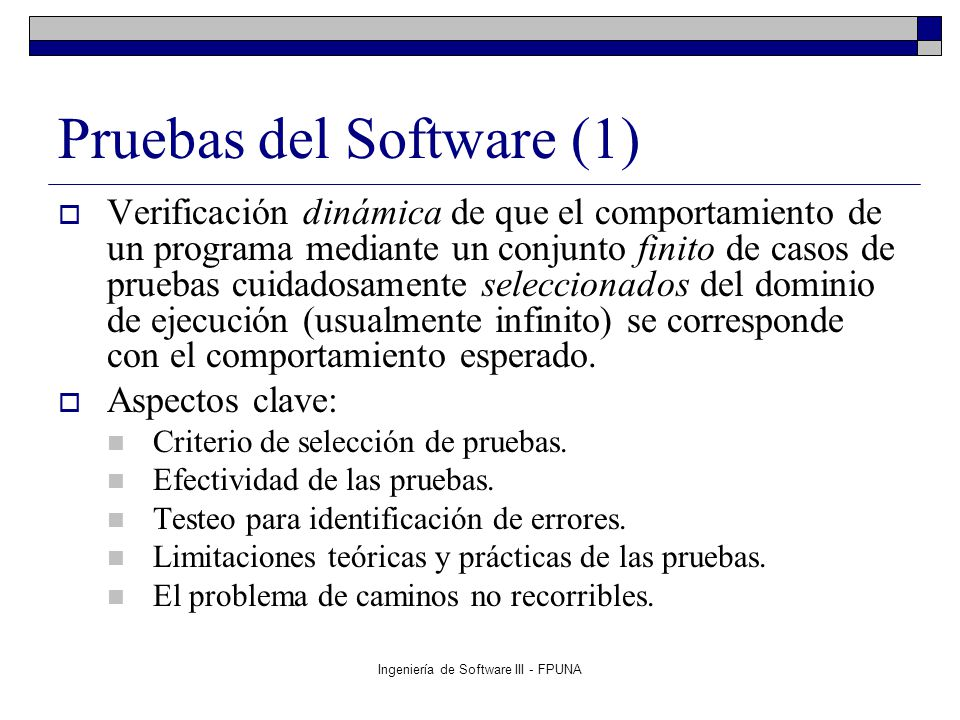 Pruebas del Software (1)