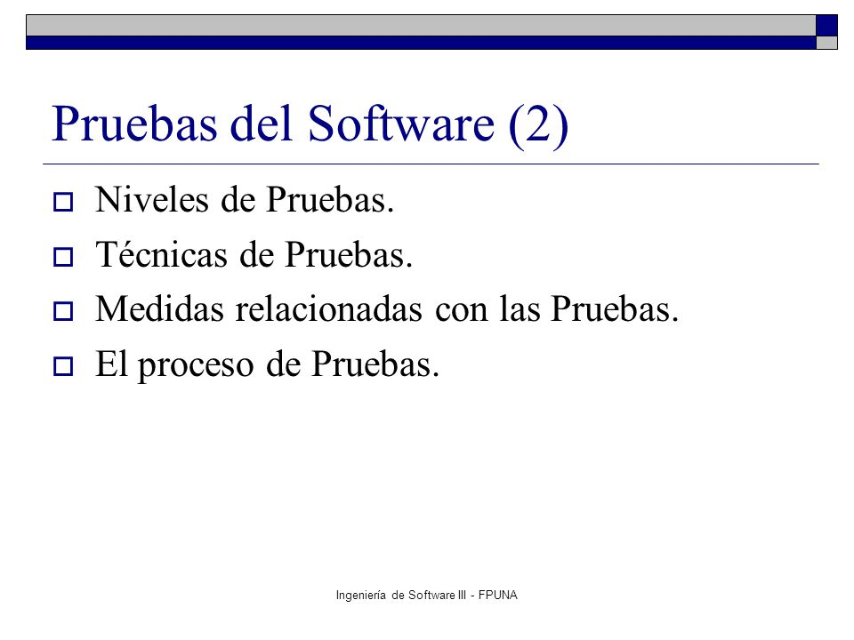 Pruebas del Software (2)