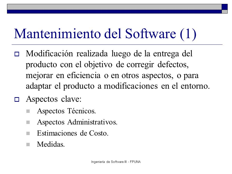 Mantenimiento del Software (1)