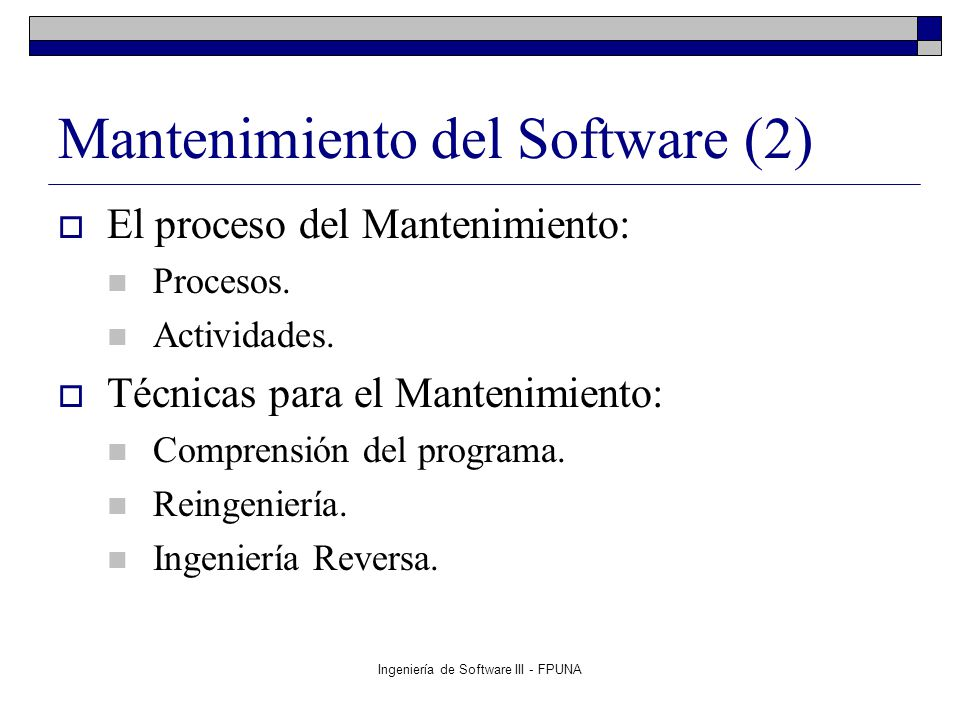 Mantenimiento del Software (2)