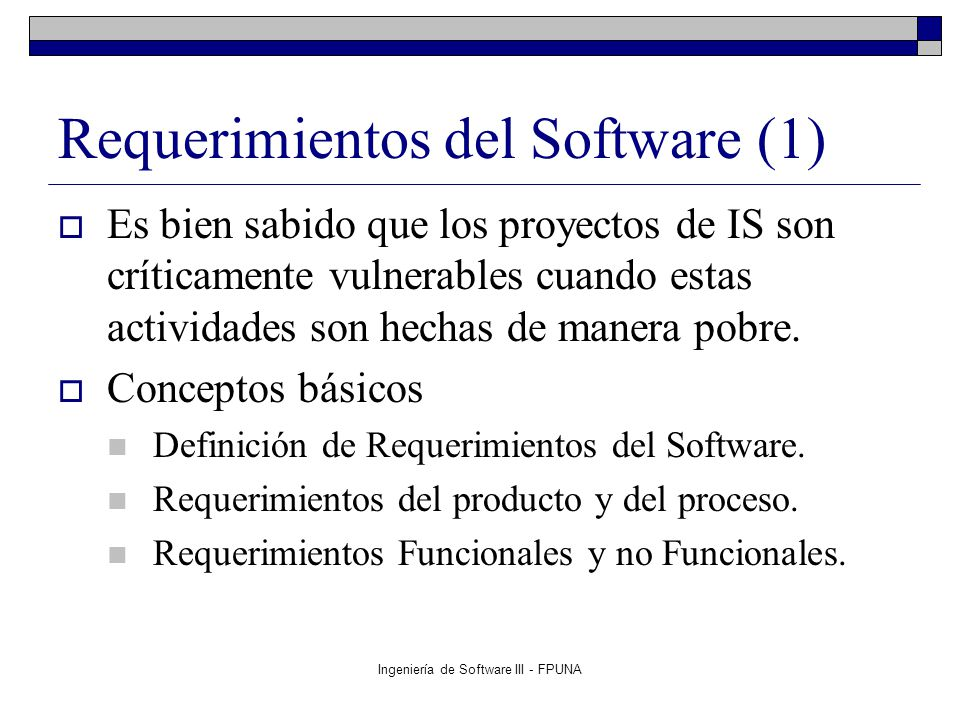 Requerimientos del Software (1)