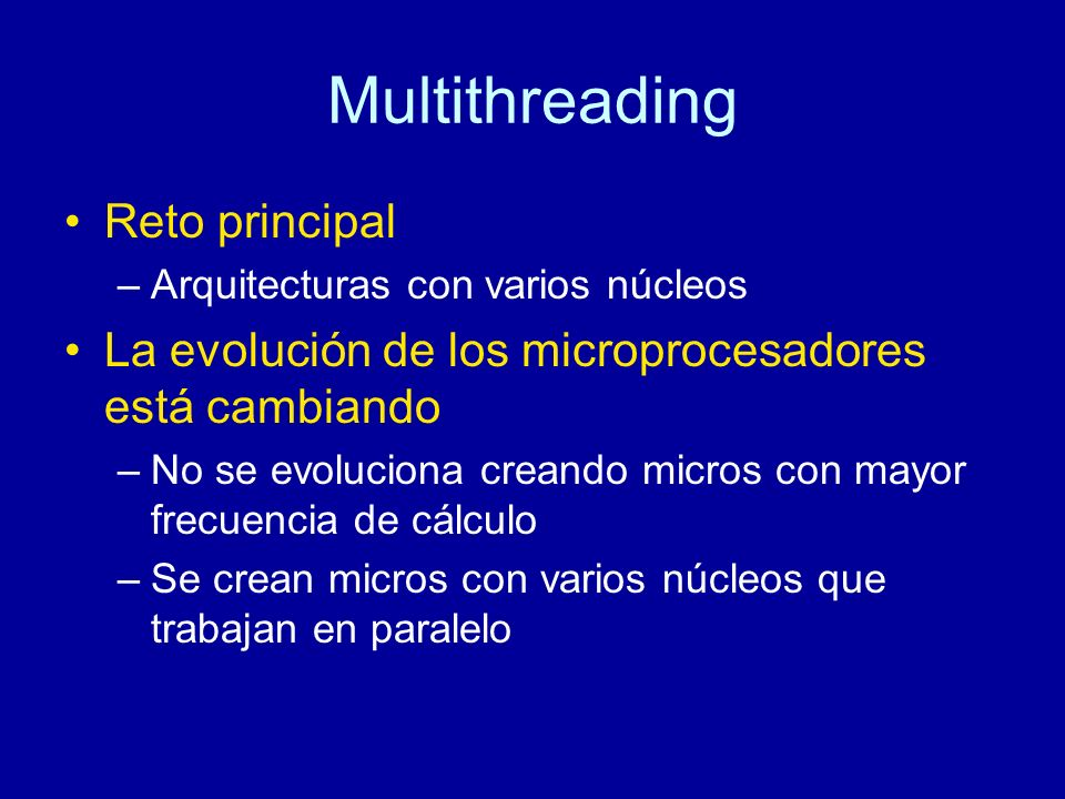 Multithreading Reto principal