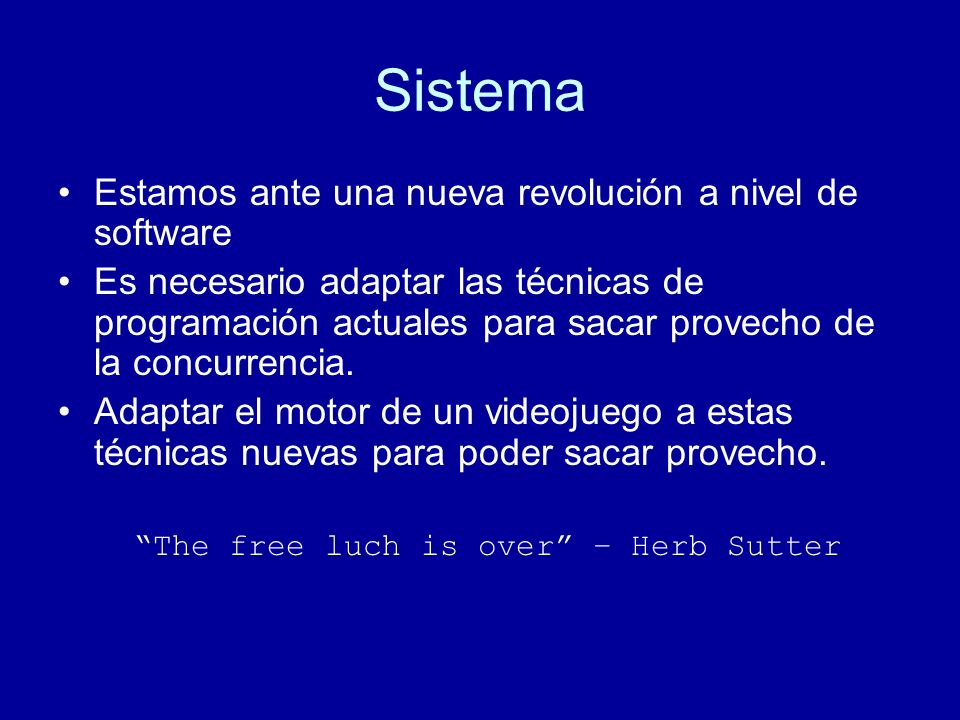 The free luch is over – Herb Sutter