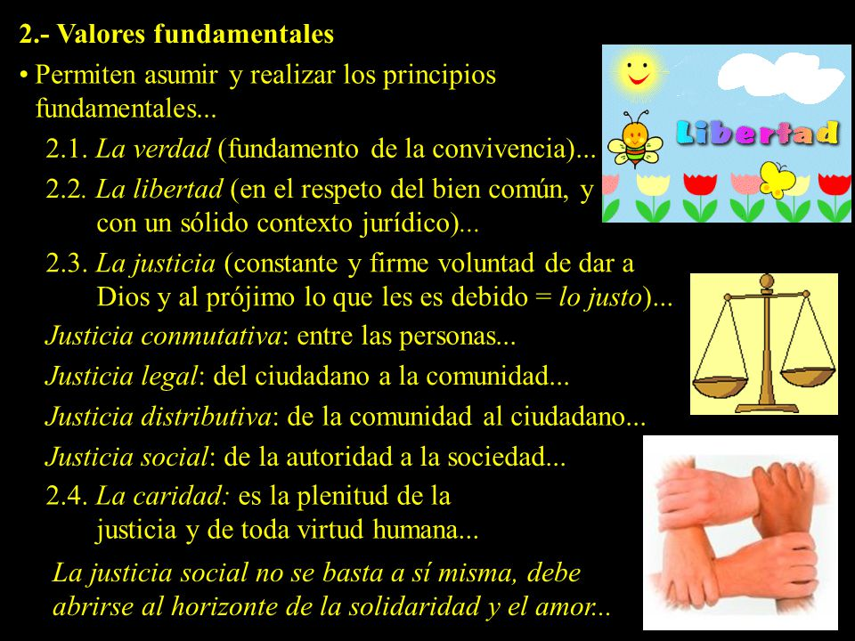 2.- Valores fundamentales