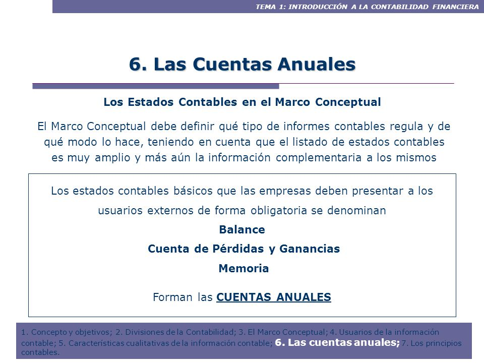 Contenidos Introducción 1.1. Concepto y objetivos de la Contabilidad ...