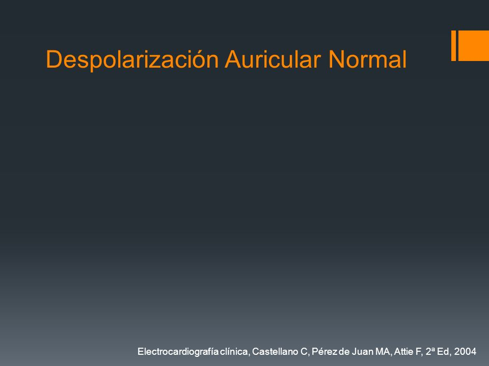 Despolarización Auricular Normal