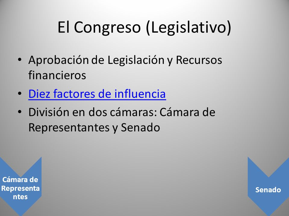 El Congreso (Legislativo)