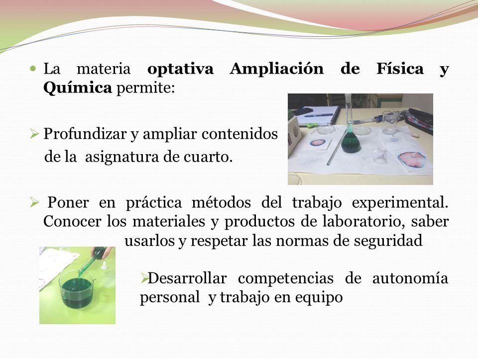 AMPLIACIÓN DE FÍSICA Y QUÍMICA. 4º ESO - ppt descargar