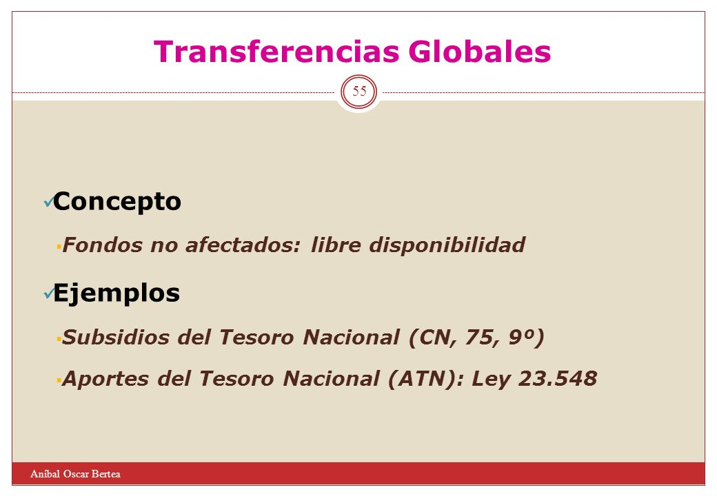 Transferencias Globales