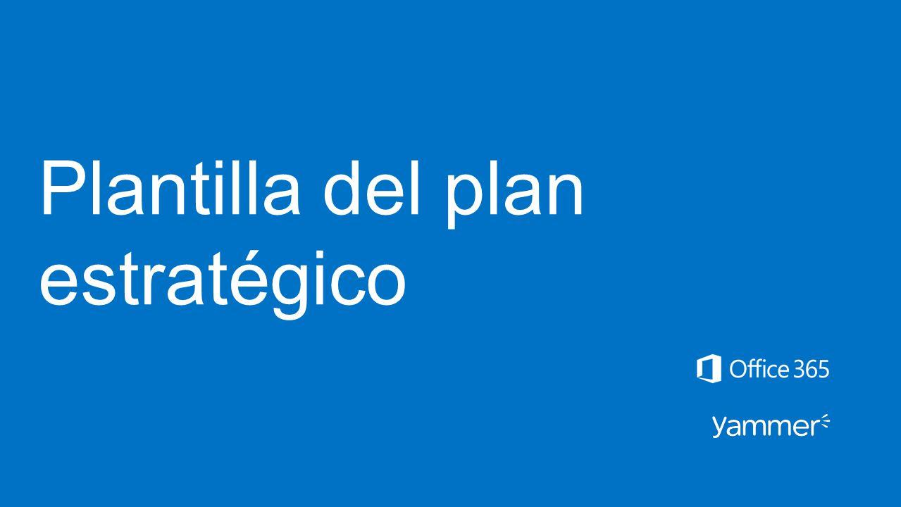 Plantilla del plan estratégico - ppt descargar