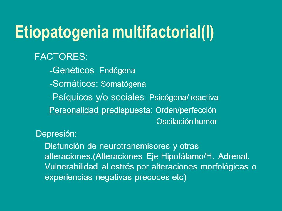 Etiopatogenia multifactorial(I)