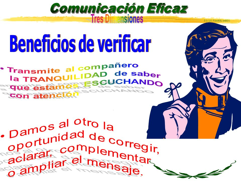Beneficios de verificar