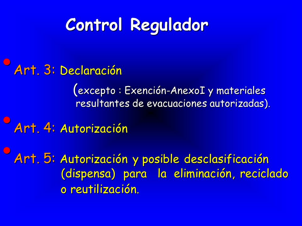 Control Regulador Art. 3: Declaración