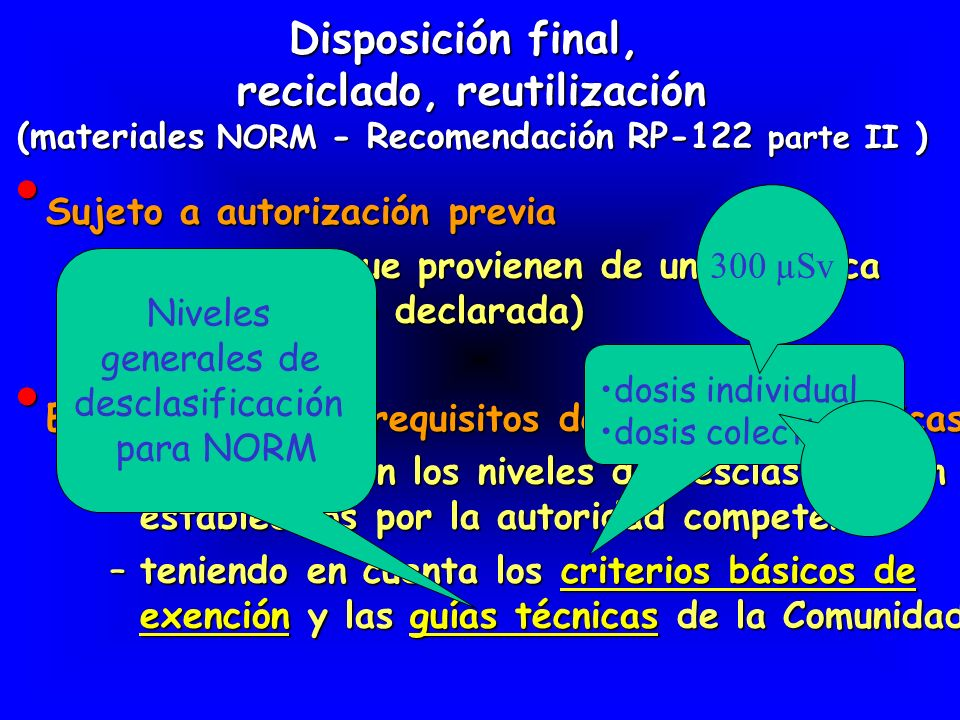 Disposición final, reciclado, reutilización
