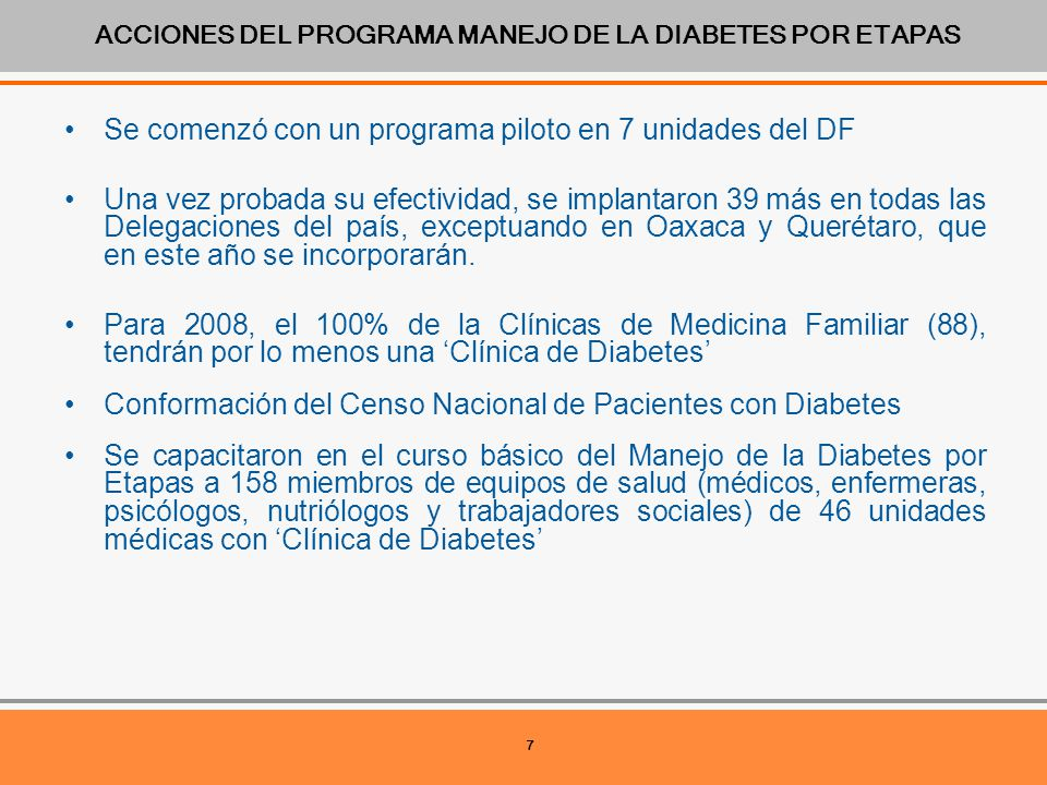 manejo de la diabetes por etapas