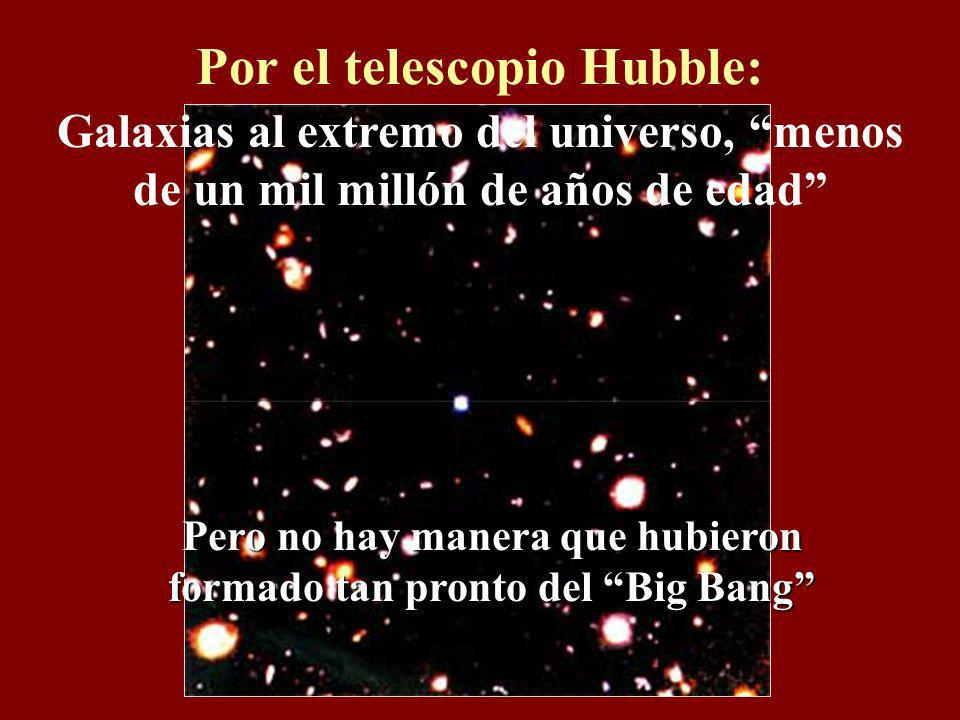 Por el telescopio Hubble: