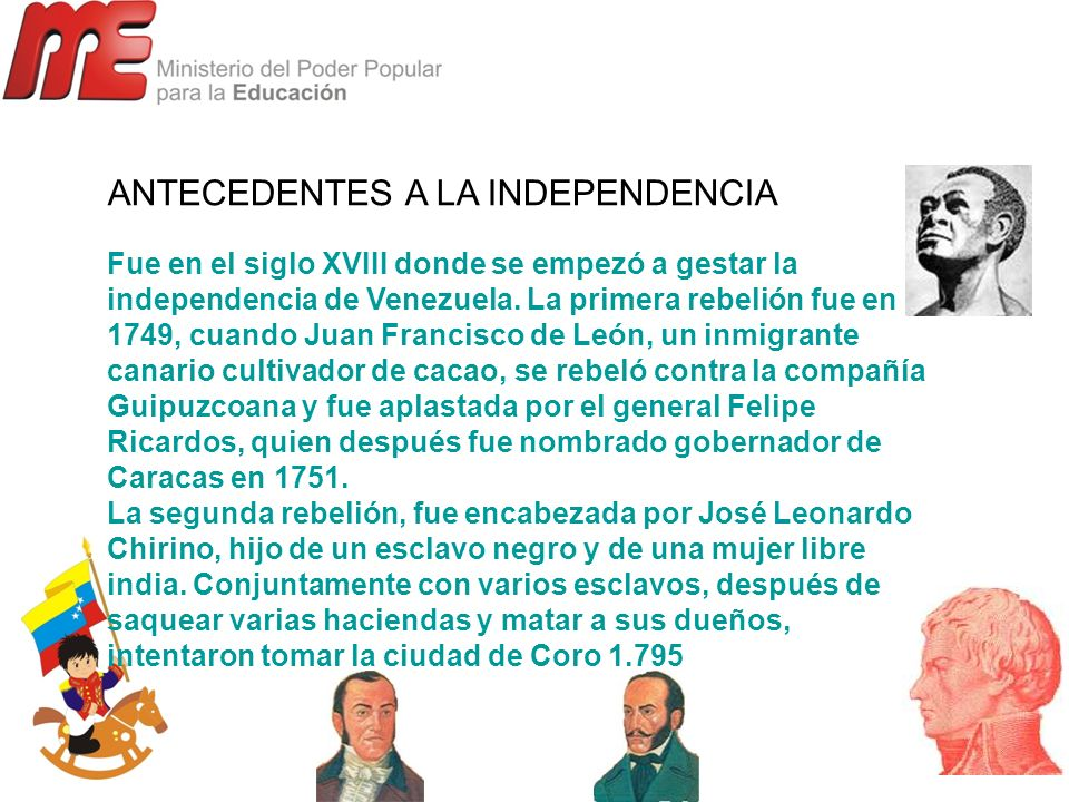 ANTECEDENTES A LA INDEPENDENCIA