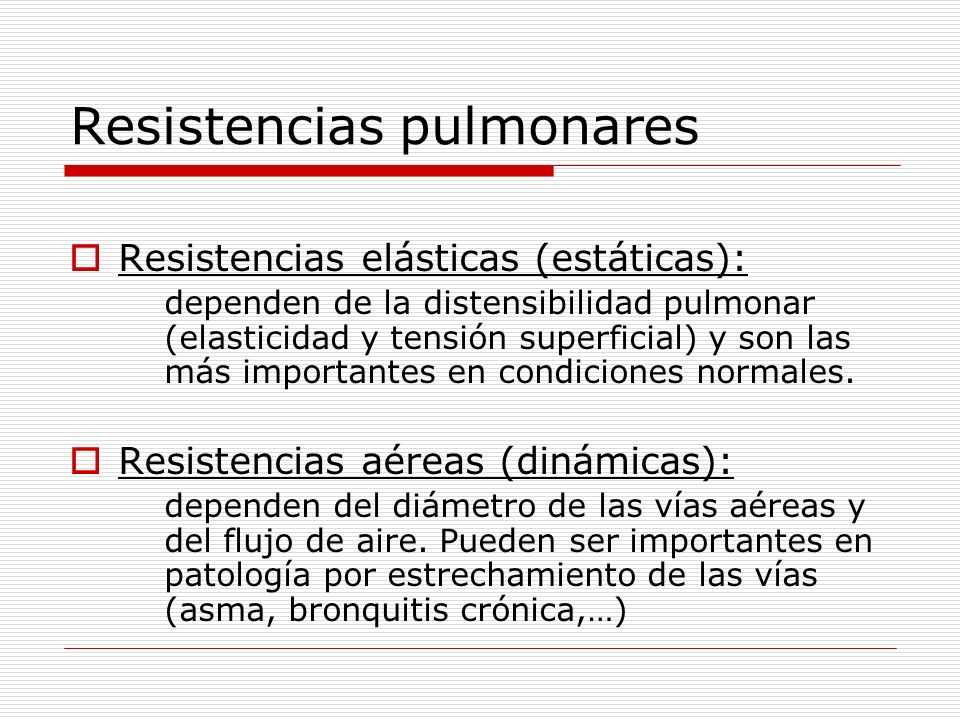 Resistencias pulmonares