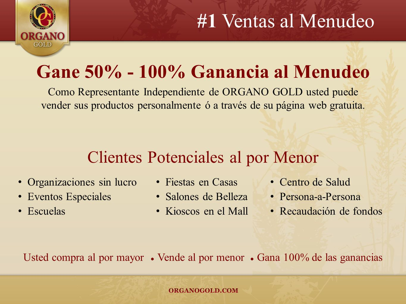Gane 50% - 100% Ganancia al Menudeo