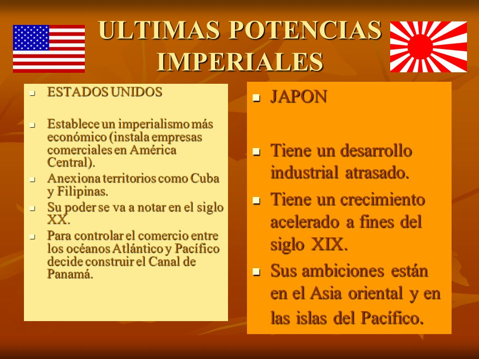 ULTIMAS POTENCIAS IMPERIALES