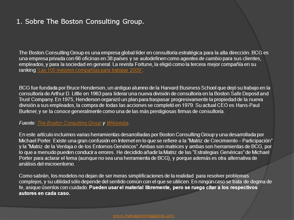 1. Sobre The Boston Consulting Group.