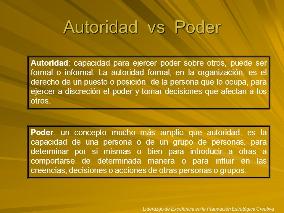 Autoridad vs Poder