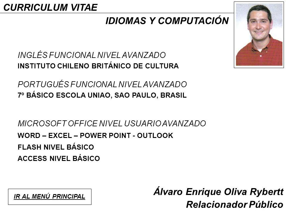 Alvaro Oliva Rybertt Relacionador Publico Curriculum Vitae Ppt