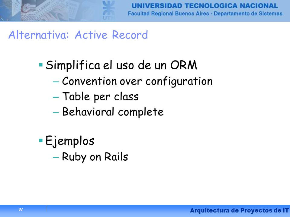 Alternativa: Active Record