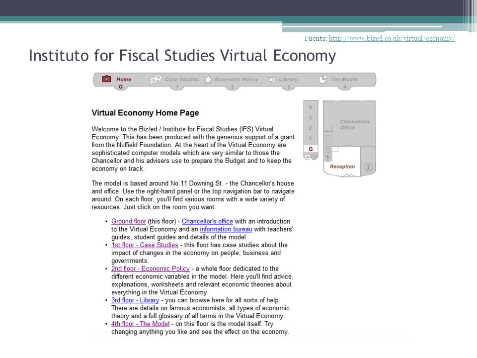Instituto for Fiscal Studies Virtual Economy
