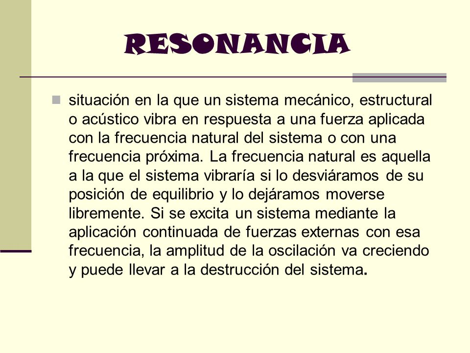 RESONANCIA
